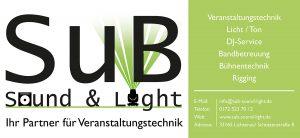 SuB Sound & Light ihr Partner für Veranstaltungstechnik